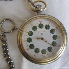 Relojes de bolsillo: RELOJ DE BOLSILLO M.Z.A. FUNCIONANDO A CUERDA. Lote 153537834