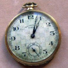 Relojes de bolsillo: RELOJ DE BOLSILLO DE ORO MARCA ALHEUR. Lote 153561562
