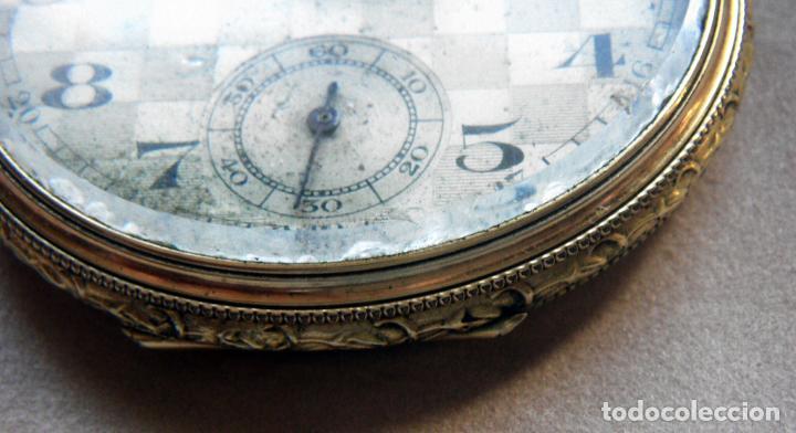 Relojes de bolsillo: RELOJ DE BOLSILLO DE ORO MARCA ALHEUR - Foto 4 - 153561562