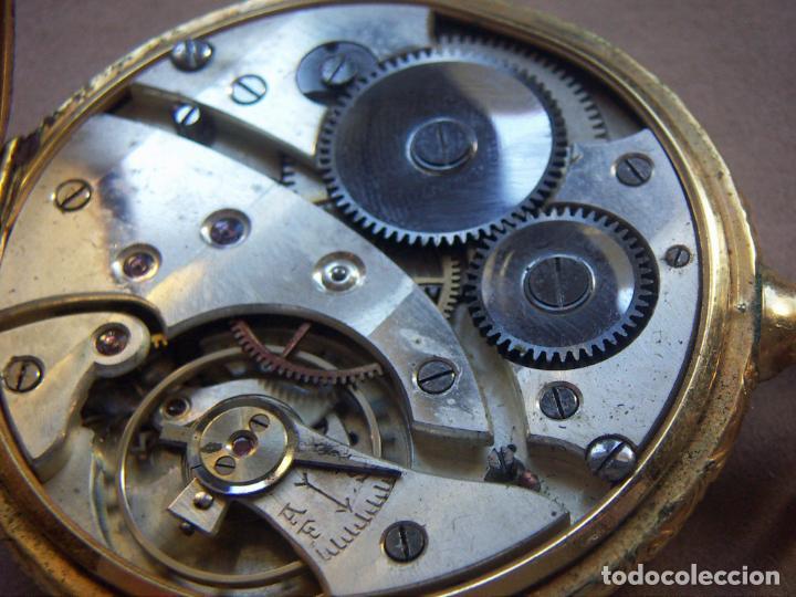 Relojes de bolsillo: RELOJ DE BOLSILLO DE ORO MARCA ALHEUR - Foto 8 - 153561562