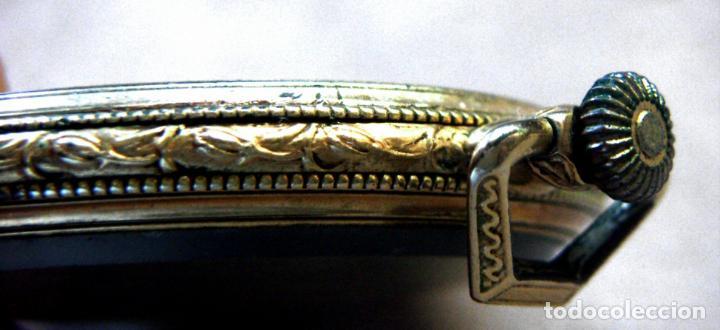 Relojes de bolsillo: RELOJ DE BOLSILLO DE ORO MARCA ALHEUR - Foto 10 - 153561562
