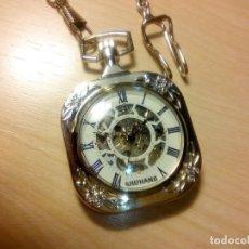 Relojes de bolsillo: RELOJ CUADRADO MECANICO. Lote 153680694