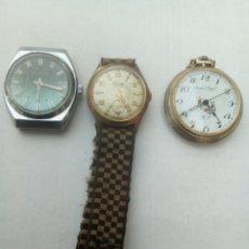 Relojes de bolsillo: LOTE DE 3 RELOJES ANTIGUOS. Lote 153847529