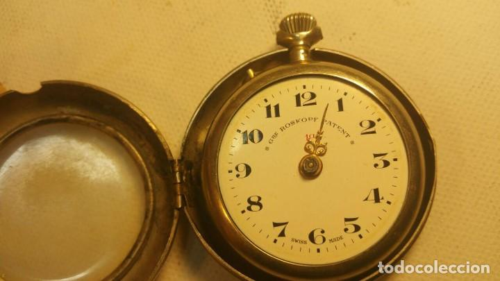 RELOJ GRE ROSKOPF PATENT 1ª SWISS MADE - CON ESTUCHE - FUNCIONA JL-9 (Relojes - Bolsillo Carga Manual)