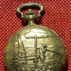 Relojes de bolsillo: SABONETA MARCA R. MULLER – GENOVA – SWISS – MOTIVO PESCA – AÑOS 60 – 50 MM DIAMETRO. Lote 153901342