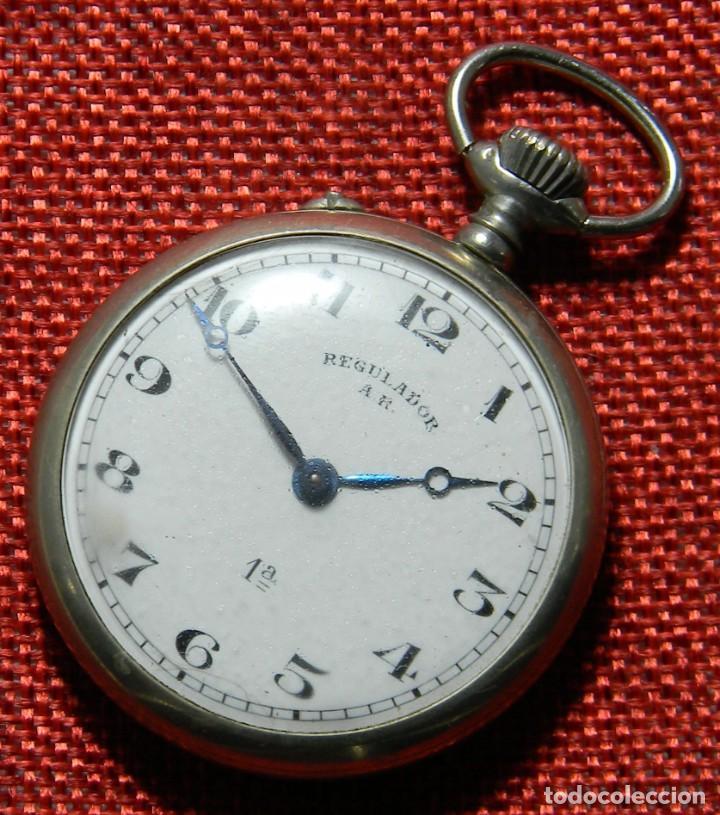 Relojes de bolsillo: Antiguo reloj Lepine marca Regulador A.R. 1ª – Swiss - 45 mm diametro - - Foto 2 - 153901394