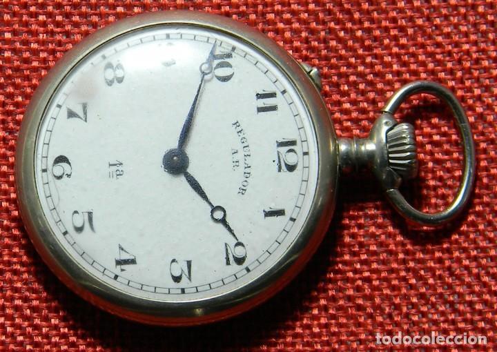 Relojes de bolsillo: Antiguo reloj Lepine marca Regulador A.R. 1ª – Swiss - 45 mm diametro - - Foto 3 - 153901394