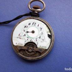 Relojes de bolsillo: RELOJ HEBDOMAS DE 8 DIAS, SPIRAL BREGUET DE FINALES DEL XIX. NO FUNCIONA. Lote 154037798
