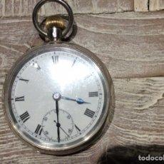Relojes de bolsillo: RELOJ BREVET DE PLATA MACIZA,. Lote 154047153