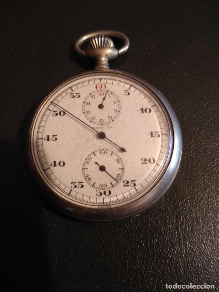 CRONÓGRAFO AR&J. MEYLAN (FUNCIONA) (Relojes - Bolsillo Carga Manual)