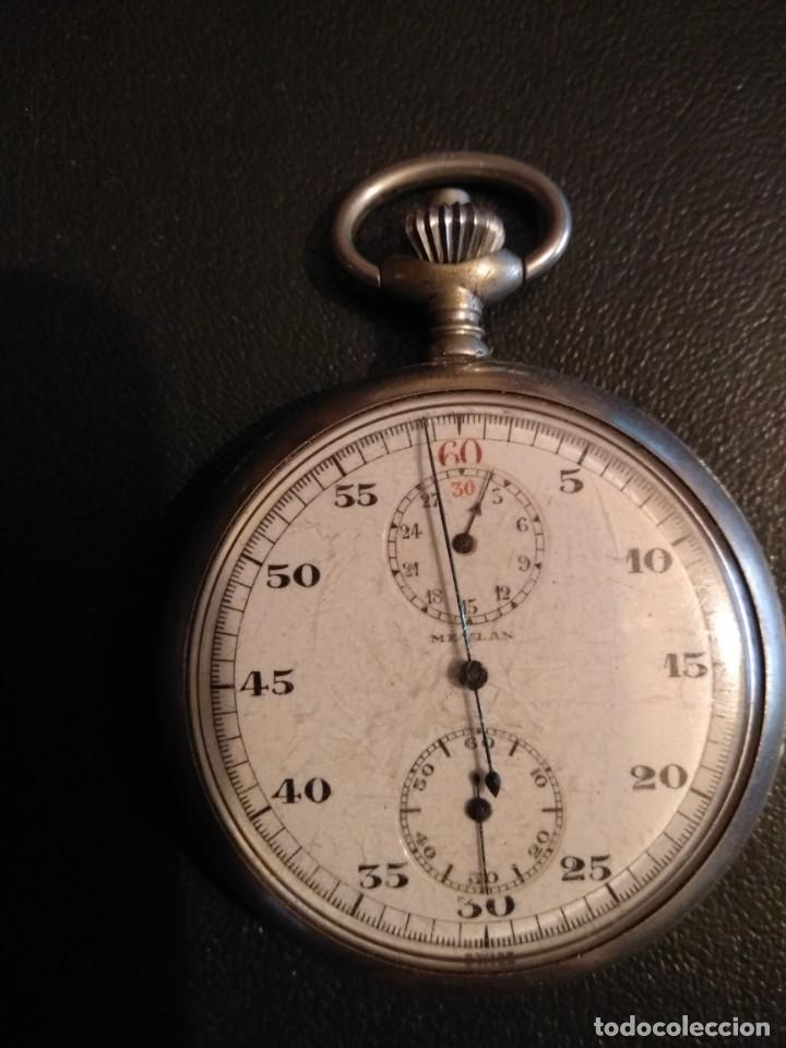 Relojes de bolsillo: Cronógrafo AR&J. MEYLAN (funciona) - Foto 2 - 154142402