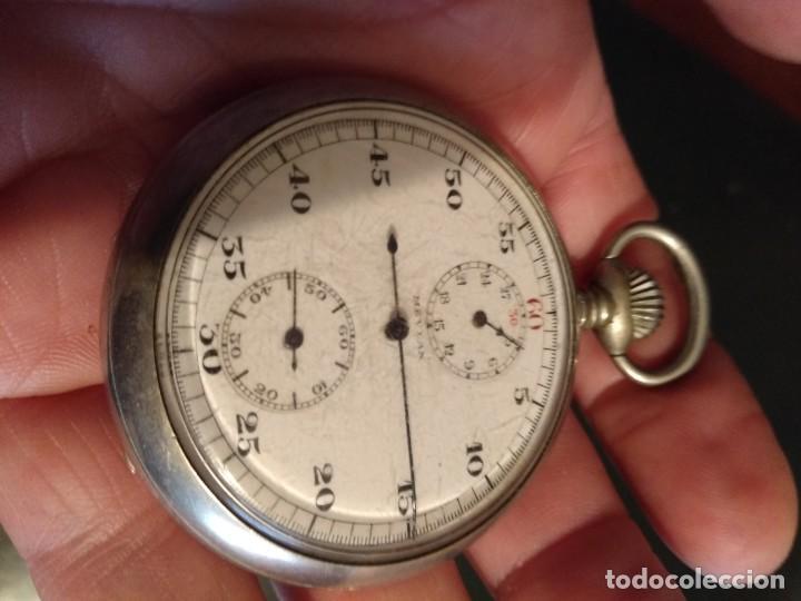 Relojes de bolsillo: Cronógrafo AR&J. MEYLAN (funciona) - Foto 3 - 154142402