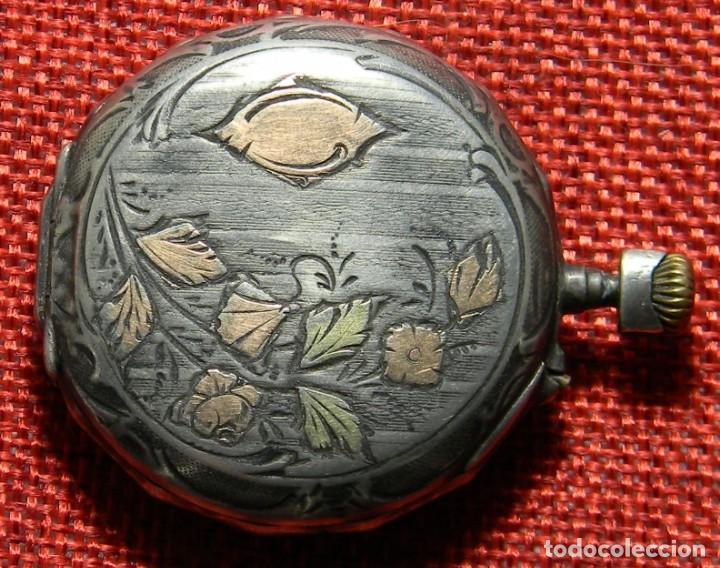 Relojes de bolsillo: Antiguo reloj de caballero - Caja de plata con marcas - 42 mm - Esfera porcelana - Finales XIX - Foto 2 - 154482674