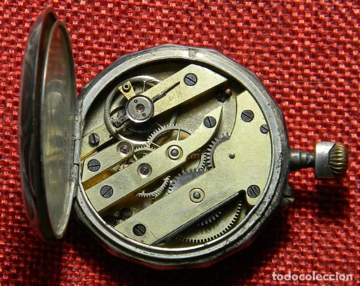 Relojes de bolsillo: Antiguo reloj de caballero - Caja de plata con marcas - 42 mm - Esfera porcelana - Finales XIX - Foto 6 - 154482674