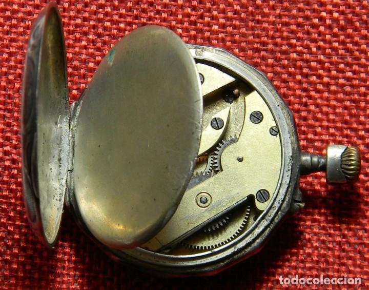 Relojes de bolsillo: Antiguo reloj de caballero - Caja de plata con marcas - 42 mm - Esfera porcelana - Finales XIX - Foto 7 - 154482674