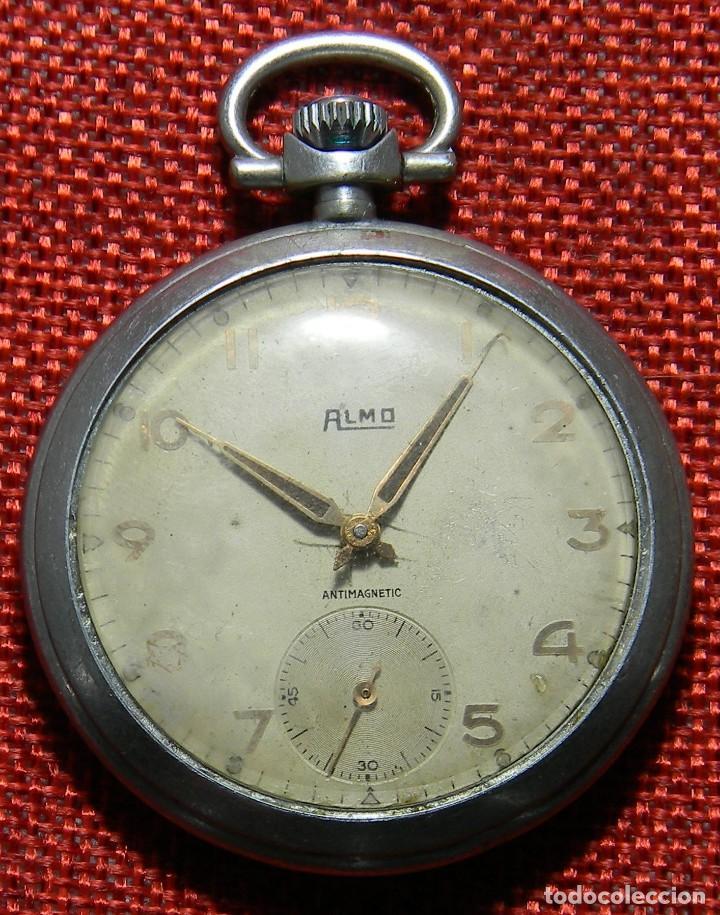 ANTIGUO RELOJ DE CABALLERO. AÑOS 50 - MARCA ALMO - DIAMETRO 48 MM - (Relojes - Bolsillo Carga Manual)
