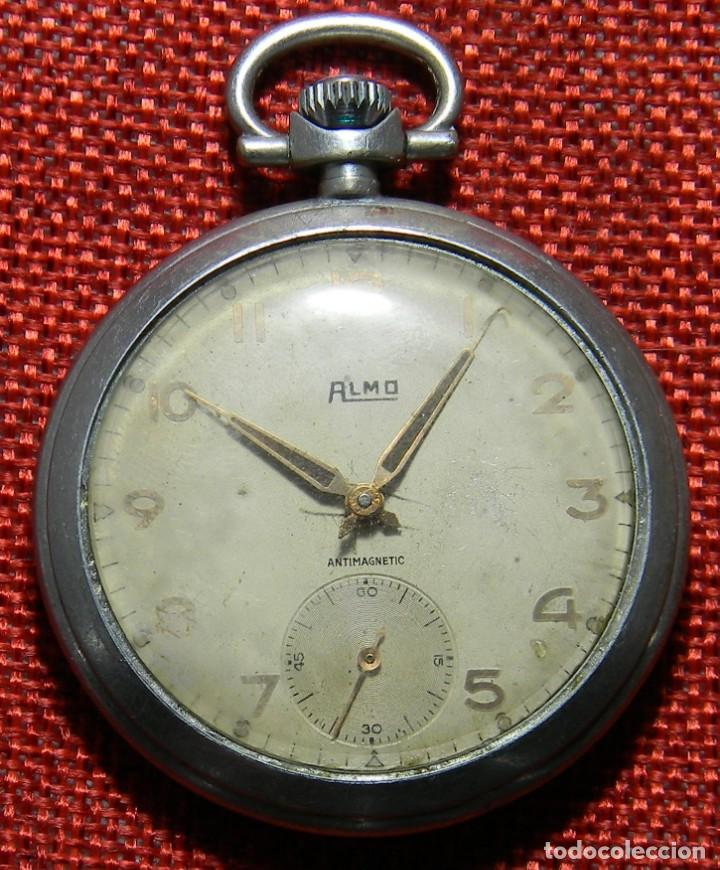 Relojes de bolsillo: Antiguo reloj de caballero. Años 50 - Marca Almo - Diametro 48 mm - - Foto 2 - 154483046
