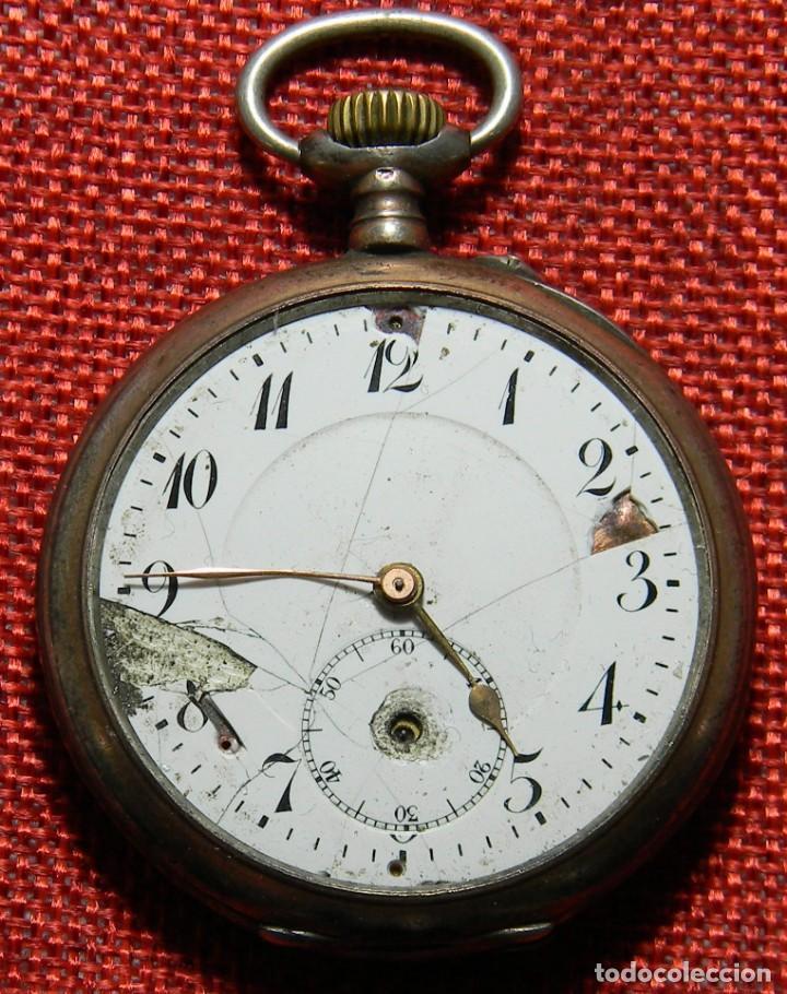 ANTIGUO RELOJ LEPINE. PLATA 0,800 - ESFERA PORCELANA - ANCRE LIGNE DROITE 15 RUBIS FINALES XIX 50 MM (Relojes - Bolsillo Carga Manual)