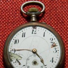 Relojes de bolsillo: ANTIGUO RELOJ LEPINE. PLATA 0,800 - ESFERA PORCELANA - ANCRE LIGNE DROITE 15 RUBIS FINALES XIX 50 MM. Lote 154483842
