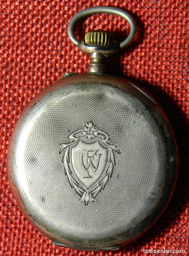 Relojes de bolsillo: Antiguo reloj Lepine. Plata 0,800 - Esfera porcelana - Ancre ligne Droite 15 Rubis Finales XIX 50 mm - Foto 2 - 154483842