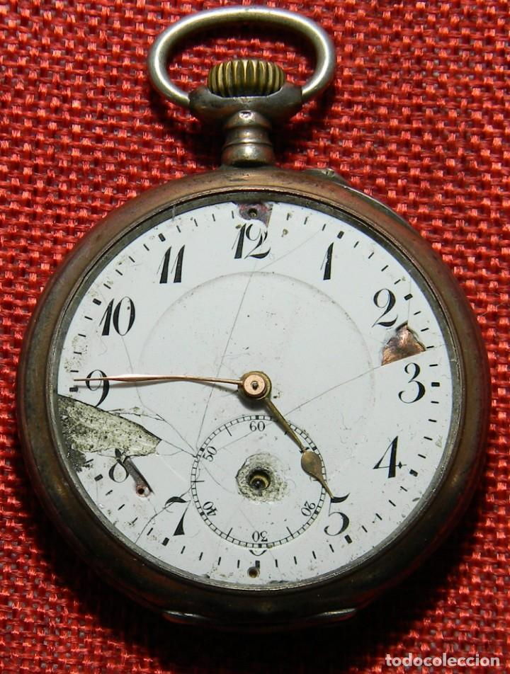 Relojes de bolsillo: Antiguo reloj Lepine. Plata 0,800 - Esfera porcelana - Ancre ligne Droite 15 Rubis Finales XIX 50 mm - Foto 4 - 154483842