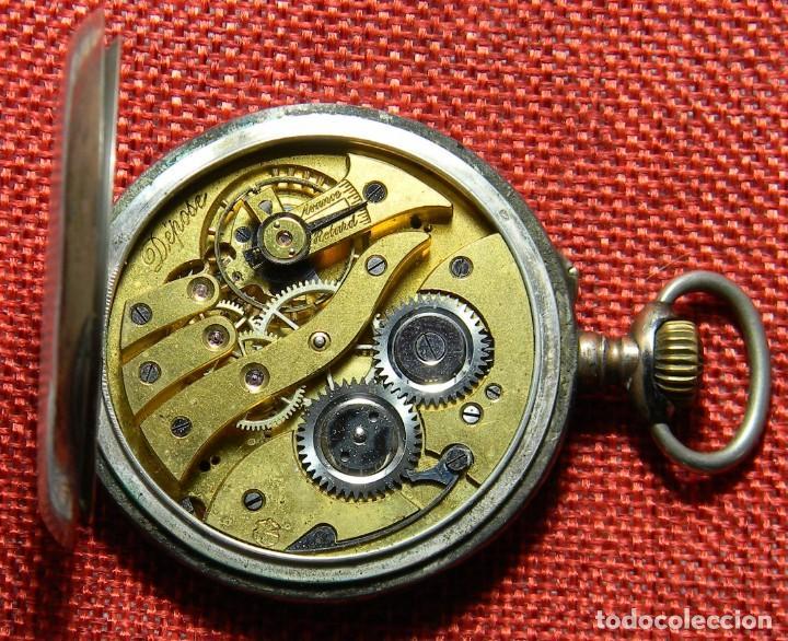 Relojes de bolsillo: Antiguo reloj Lepine. Plata 0,800 - Esfera porcelana - Ancre ligne Droite 15 Rubis Finales XIX 50 mm - Foto 8 - 154483842