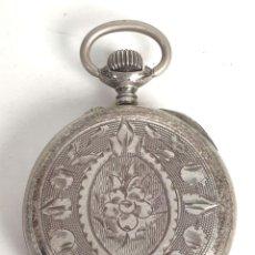 Relojes de bolsillo: RELOJ DE BOLSILLO. TIPO SABONETA. CAJA DE PLATA 800. SUIZA. SIGLO XX. . Lote 154610306