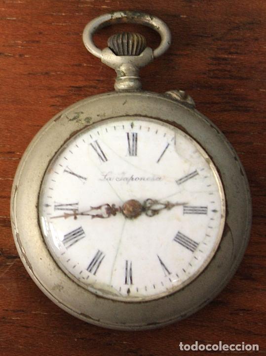 RELOJ DE BOLSILLO LA JAPONESA. PARA DESPIECE, NO FUNCIONA (Relojes - Bolsillo Carga Manual)