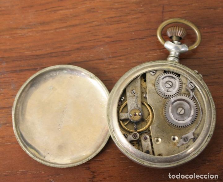 Relojes de bolsillo: RELOJ DE BOLSILLO DISTINGUO 1ª. PARA DESPIECE, NO FUNCIONA - Foto 3 - 154644108