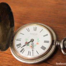 Relojes de bolsillo: RELOJ DE BOLSILLO DIANTUS 17 JEWELS. SWISS MADE. HECHO EN SUIZA. FUNCIONA. Lote 154645497
