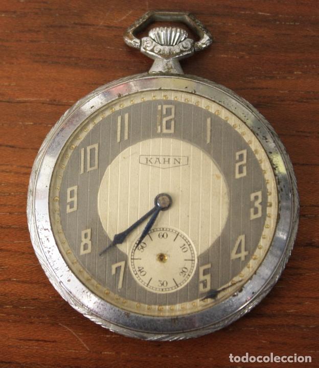 RELOJ DE BOLSILLO KAHN. NO FUNCIONA, PARA DESPIECE (Relojes - Bolsillo Carga Manual)
