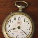 Relojes de bolsillo: RELOJ DE BOLSILLO G.M. SERRANO. ROSSKOPF. NO FUNCIONA, PARA DESPIECE. Lote 154651126