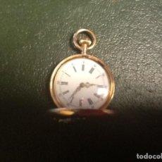 Relojes de bolsillo: RELOJ PARA COLGAR EN ORO Y DIAMANTES.. Lote 154712994