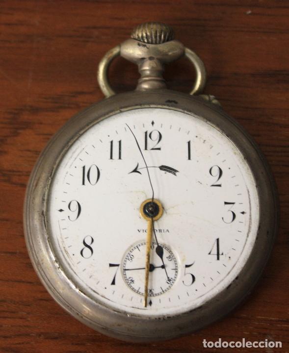 RELOJ DE BOLSILLO VICTORIA. NO FUNCIONA, PARA DESPIECE (Relojes - Bolsillo Carga Manual)