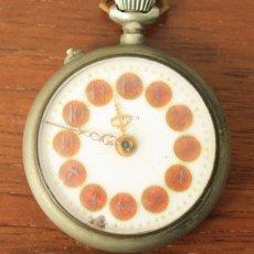 Relojes de bolsillo: RELOJ DE BOLSILLO META. NO FUNCIONA, PARA DESPIECE. Lote 154774956