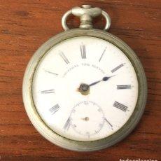 Relojes de bolsillo: RELOJ DE BOLSILLO UNIVERSAL TIME KEEPER. NO FUNCIONA, PARA DESPIECE. Lote 154778224