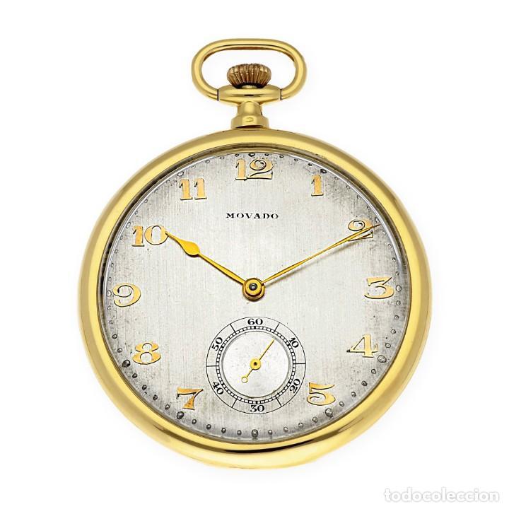 RELOJ DE BOLSILLO VINTAGE MOVADO DE ORO 18K CUERDA MANUAL (Relojes - Bolsillo Carga Manual)