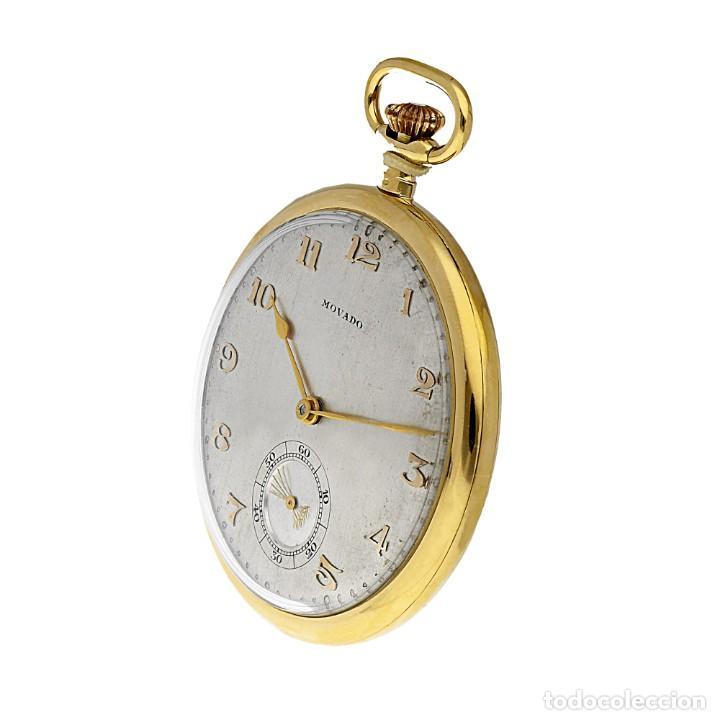 Relojes de bolsillo: RELOJ DE BOLSILLO VINTAGE MOVADO DE ORO 18K CUERDA MANUAL - Foto 6 - 154822570
