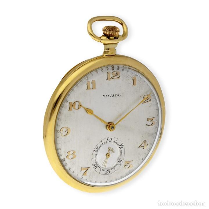 Relojes de bolsillo: RELOJ DE BOLSILLO VINTAGE MOVADO DE ORO 18K CUERDA MANUAL - Foto 7 - 154822570