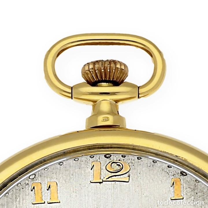 Relojes de bolsillo: RELOJ DE BOLSILLO VINTAGE MOVADO DE ORO 18K CUERDA MANUAL - Foto 8 - 154822570