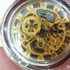 Relojes de bolsillo: RELOJ BOLSILLO CARGA MANUAL MAQUINARIA VISTA. Lote 155095234