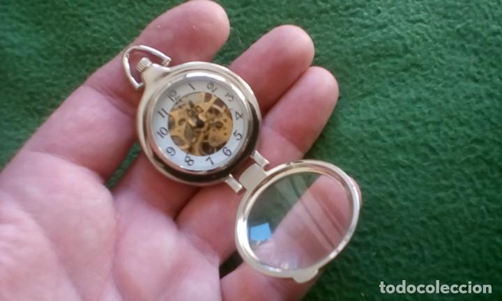Relojes de bolsillo: Reloj de bolsillo carga manual a cuerda ¡¡ sólo 20 euros !! - Foto 5 - 155212562