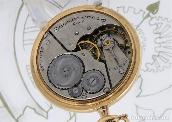 Relojes de bolsillo: MONTGOMERY BROS-ELGIN-USA-FANTASTICO RELOJ DE BOLSILLO-BISEL Y TAPA ROSCADA-CIRCA 1918-FUNCIONANDO - Foto 4 - 155396342