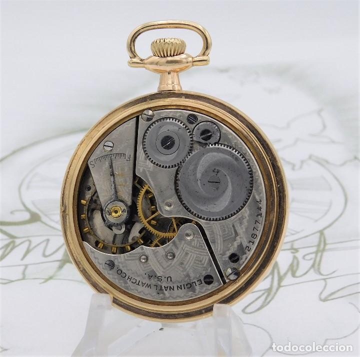 Relojes de bolsillo: MONTGOMERY BROS-ELGIN-USA-FANTASTICO RELOJ DE BOLSILLO-BISEL Y TAPA ROSCADA-CIRCA 1918-FUNCIONANDO - Foto 8 - 155396342