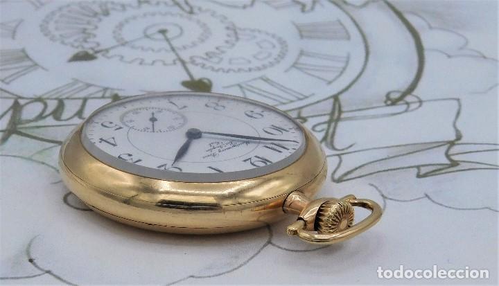 Relojes de bolsillo: MONTGOMERY BROS-ELGIN-USA-FANTASTICO RELOJ DE BOLSILLO-BISEL Y TAPA ROSCADA-CIRCA 1918-FUNCIONANDO - Foto 10 - 155396342