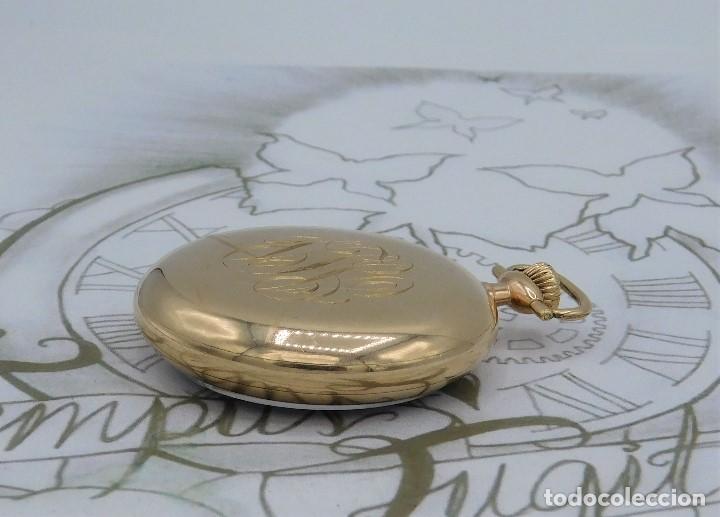 Relojes de bolsillo: MONTGOMERY BROS-ELGIN-USA-FANTASTICO RELOJ DE BOLSILLO-BISEL Y TAPA ROSCADA-CIRCA 1918-FUNCIONANDO - Foto 11 - 155396342