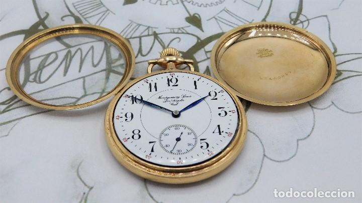 Relojes de bolsillo: MONTGOMERY BROS-ELGIN-USA-FANTASTICO RELOJ DE BOLSILLO-BISEL Y TAPA ROSCADA-CIRCA 1918-FUNCIONANDO - Foto 12 - 155396342
