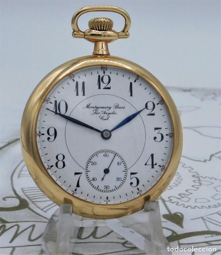 Relojes de bolsillo: MONTGOMERY BROS-ELGIN-USA-FANTASTICO RELOJ DE BOLSILLO-BISEL Y TAPA ROSCADA-CIRCA 1918-FUNCIONANDO - Foto 14 - 155396342