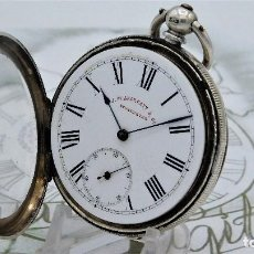 Relojes de bolsillo: RELOJ DE BOLSILLO J.M.SKARRAT & Cº-DE PLATA-3 TAPAS-CIRCA 1880-FUNCIONANDO. Lote 155403054
