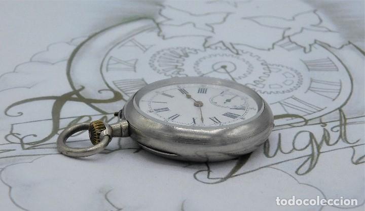 Relojes de bolsillo: LONGINES-RELOJ DE BOLSILLO REMONTOIRE-2 TAPAS-CIRCA 1894-FUNCIONANDO - Foto 9 - 155443866